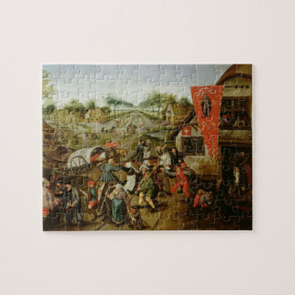 The Return from the Kermesse (oil on panel) Jigsaw Puzzle
