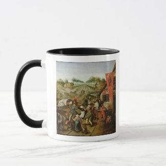 The Return from the Kermesse (oil on panel) Mug