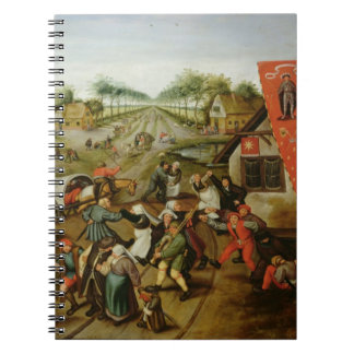 The Return from the Kermesse (oil on panel) Spiral Note Book