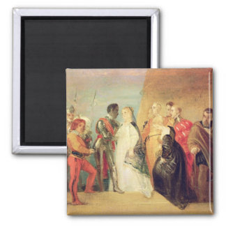 The Return of Othello, Act II, Scene ii from 'Othe 2 Inch Square Magnet