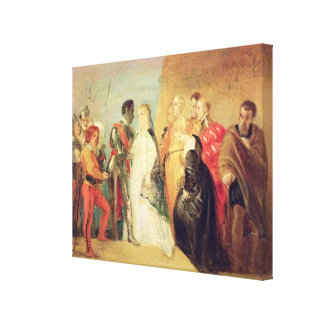 The Return of Othello, Act II, Scene ii from 'Othe Canvas Print