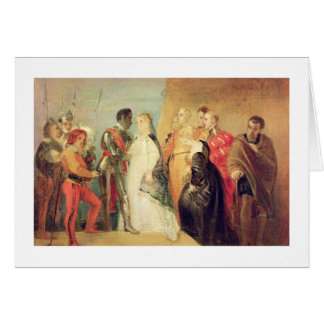 The Return of Othello, Act II, Scene ii from 'Othe Cards