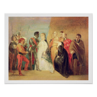 The Return of Othello, Act II, Scene ii from 'Othe Poster