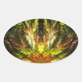 The Return of Quetzalcoatl Oval Sticker