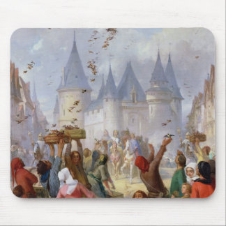 The Return of St. Louis  and Blanche of Castille Mouse Pad