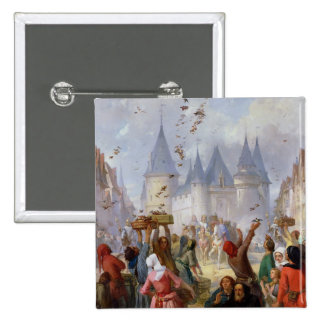 The Return of St. Louis  and Blanche of Castille Pinback Button