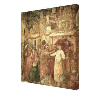 The Return of St. Ranieri, mid 14th century Canvas Print