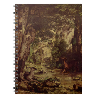 The Return of the Deer to the Stream at Plaisir Fo Spiral Note Book