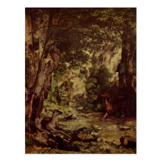 The Return of the Deer to the Stream at Plaisir Fo Postcard