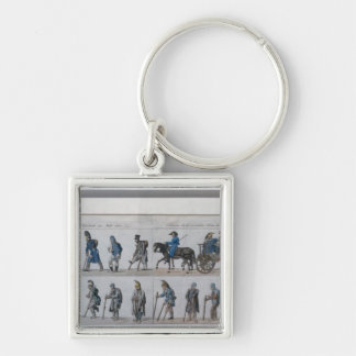 The return of the defeated French army from Keychains