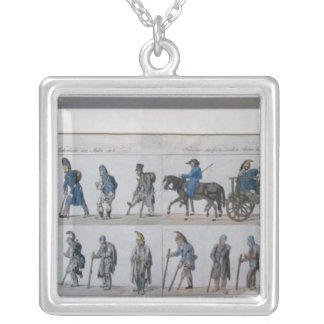 The return of the defeated French army from Silver Plated Necklace