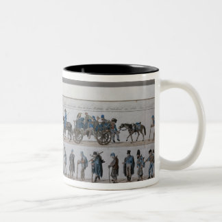 The return of the defeated French army from Two-Tone Coffee Mug