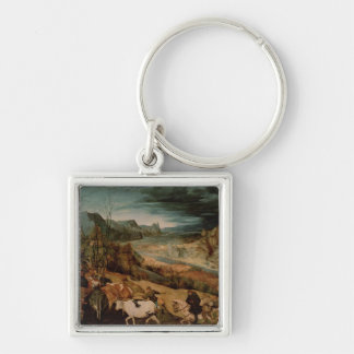 The Return of the Herd  1565 Silver-Colored Square Keychain