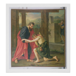 The Return of the Prodigal Son, 1823 (oil in canva Poster