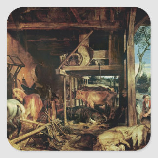The Return of the Prodigal Son, c.1618 Square Sticker