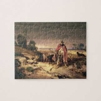 The Return of the Shepherd (pen & brown ink, w/c & Jigsaw Puzzle
