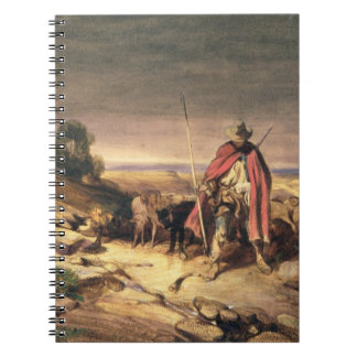 The Return of the Shepherd (pen & brown ink, w/c & Spiral Notebooks