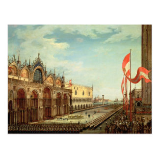 The Return of the St. Mark Troops to Venice Postcard