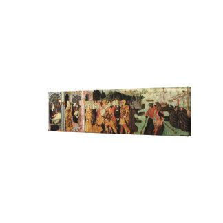 The Return of Ulysses, cassone panel, Sienese Canvas Print