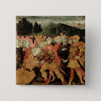 The Return of Ulysses, cassone panel, Sienese Pinback Button
