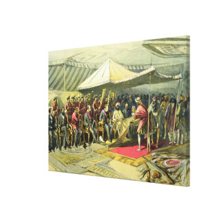The Return Visit of the Viceroy to the Maharajah o Canvas Print