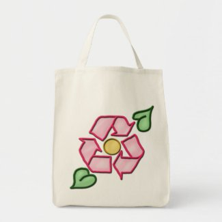The Reuse Flower Grocery Tote bag