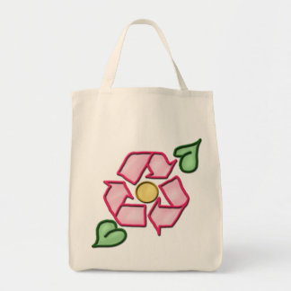 The Reuse Flower Grocery Tote Tote Bags