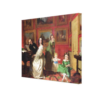 The Rev. and Mrs Palmer-Lovell with their daughter Canvas Print
