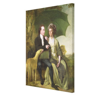 The Rev. and Mrs Thomas Gisborne, of Yoxhall Lodge Canvas Print