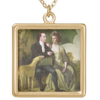 The Rev. and Mrs Thomas Gisborne, of Yoxhall Lodge Gold Plated Necklace