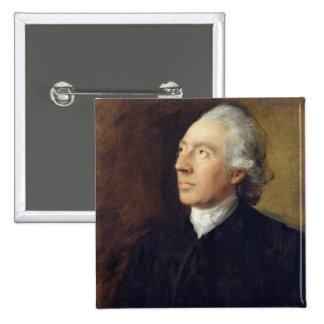 The Rev. Humphrey Gainsborough, c.1770-4 (oil on c 2 Inch Square Button