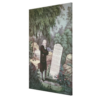 The Rev. John Wesley visiting his mother's grave Canvas Print