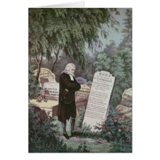 The Rev. John Wesley visiting his mother's grave Cards