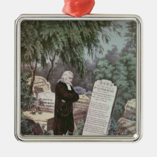 The Rev. John Wesley visiting his mother's grave Metal Ornament