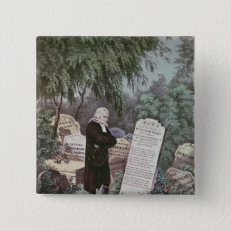 The Rev. John Wesley visiting his mother's grave Pinback Button