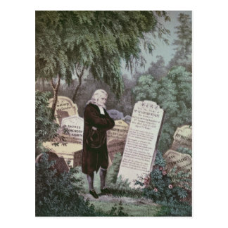 The Rev. John Wesley visiting his mother's grave Postcard