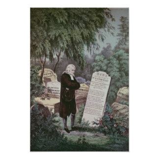 The Rev. John Wesley visiting his mother's grave Poster