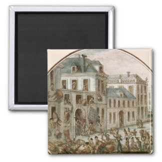 The Reveillon Riot of April, 1789 2 Inch Square Magnet