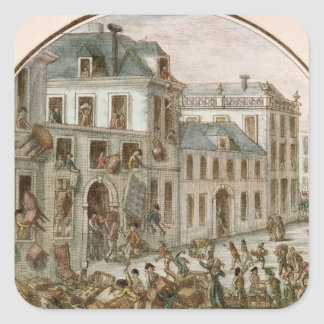 The Reveillon Riot of April, 1789 Square Stickers