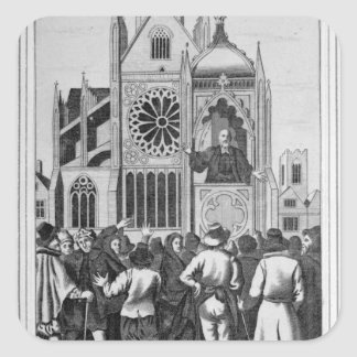 The Reverend Dr Shaw Preaching Square Stickers