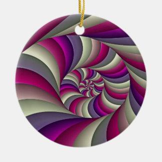 The reversable coil ceramic ornament