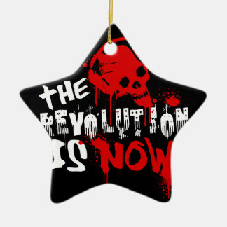 The Revolution Is Now Ceramic Ornament