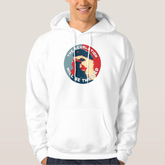 The Revolution will be Tweeted Fairey Style Hoodie