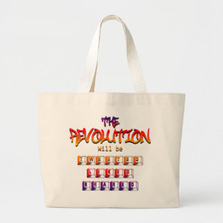 The revolution will be tweeted liked & shared (Ver Tote Bags