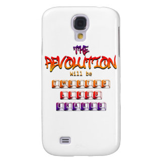 The revolution will be tweeted liked & shared (Ver Galaxy S4 Covers