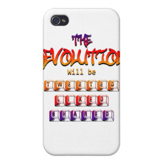 The revolution will be tweeted liked & shared (Ver iPhone 4/4S Cover