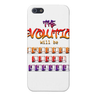The revolution will be tweeted liked & shared (Ver iPhone 5 Cases