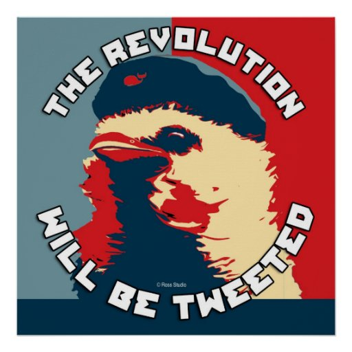 The Revolution will be Tweeted Obama Type Poster