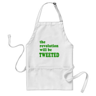 The Revolution will be Tweeted Products Adult Apron