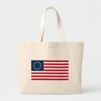 The Revolutionary War Betsy Ross Flag Large Tote Bag